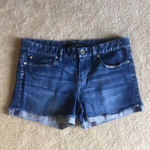 Calvin Klein dark wash jean shorts